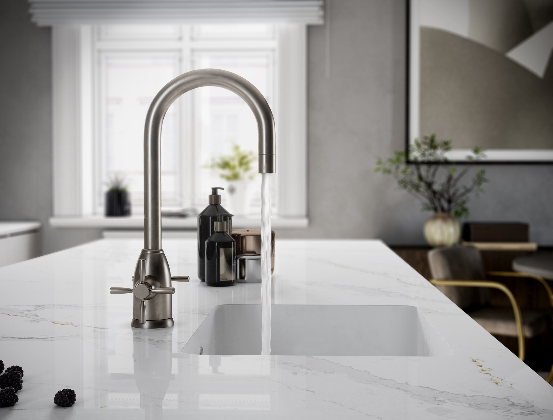 Plan-travail-cuisine-evierr-incruste-marbrerie-silestone-STC-Paris